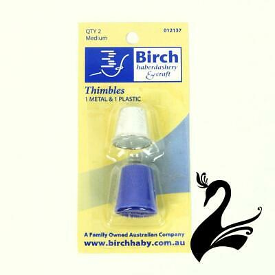 Birch Thimbles - Metal & Plastic (Pack of 2) - Millinery Hats Fascinators