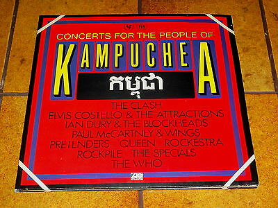 CONCERTS FOR THE PEOPLE OF KAMPUCHEA - 2 LP in EX!!