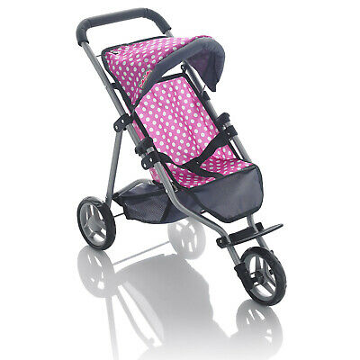 Molly Dolly 53cm My First 3 Wheeler Dolls Stroller Buggy Girls Pram Pushchair