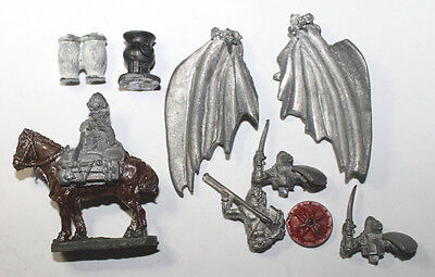 1970s TSR Ral Partha Grenadier OLD Pewter Miniature Fantasy Dragon Wings & Horse