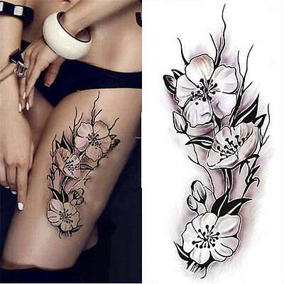 Women Waterproof Temporary Body Tattoo Stickers Plum Blossom Decals Decoration