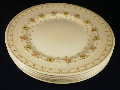 Wood's Ware Sunnybrook Floral Entree Plates Set Of 6