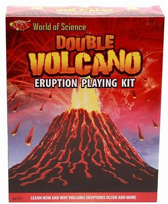 World Of Science Double Volcano Eruption Playing Educational Toy Kit