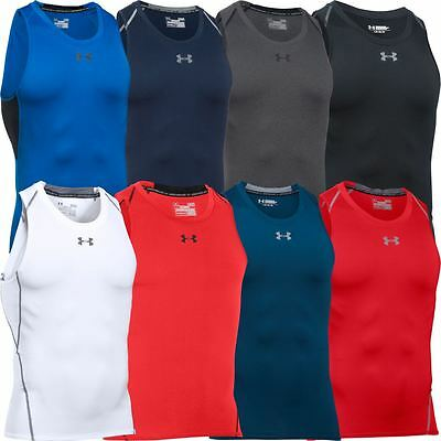 2016 Under Armour Heatgear Compression Vest Mens Training Sports Tank Top