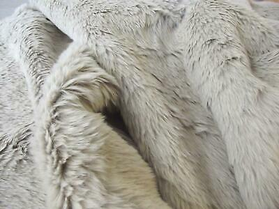 Super Luxury Faux Fur Fabric Material - SOLID STONE BEIGE