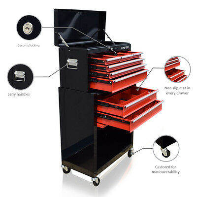 371 Us Pro Tools Black Red Affordable Tool Chest Rollcab Tool Box Roller Cabinet