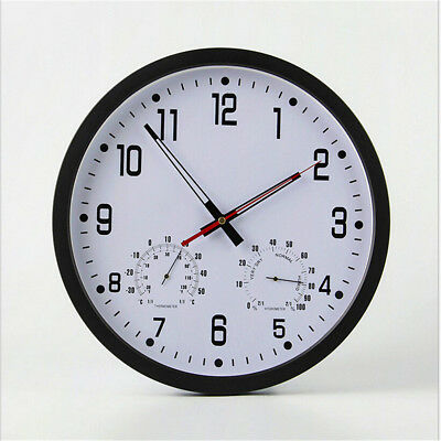 Large Wall Clock For Home Room Kitchen Office Temperature Humidity Display Clock