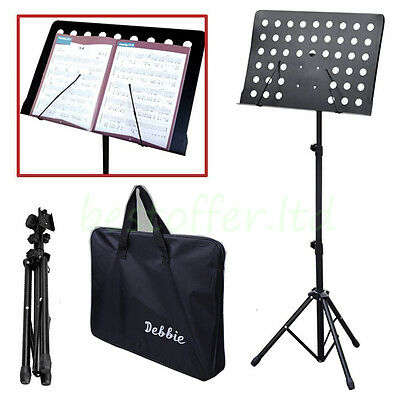 Adjustable Music Conductor Stand Metal Tripod Holder Folding Stage Carrying Bag