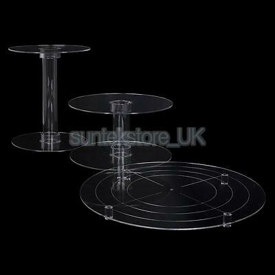 3Tiers Cascade Cupcake Stand Acrylic Round Muffin Wedding Party Display