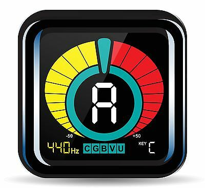 KLIQ UberTuner - Clip-On Tuner for All Instruments - with Guitar Bass Violin ...