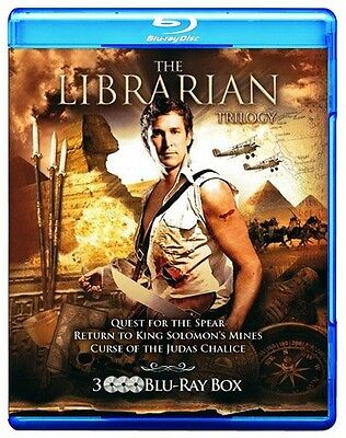 The Librarian Trilogy 1 2 3 [Blu-ray Set Complete Series Region Free 3-Disc]
