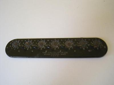 ANTIQUE EARLY MECHANCAL THE CALCULATOR Co.Corporation Grand Rapids, Michigan