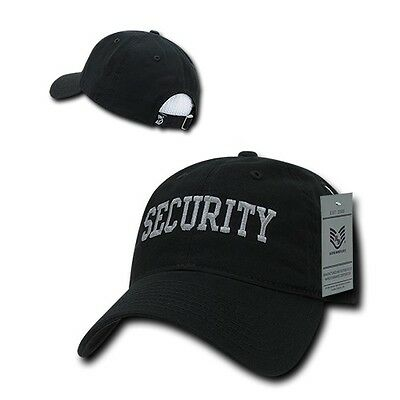 Black Security Officer Guard Agent Low Crown Polo Style Baseball Ball Cap  Hat da4c0531807