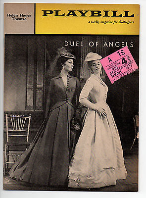 Duel of Angels Helen Hayes Theatre Playbill 1960 NYC Vivien Leigh Mary Ure VG