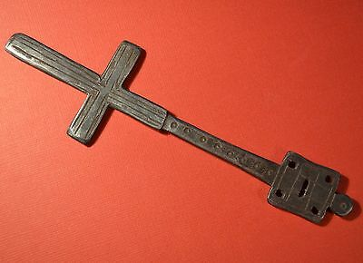 Rare Antique Ethiopian Orthodox Christian Iron Hand Held Blessing Cross Ethiopia