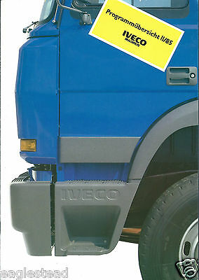 Truck Brochure - Iveco Magirus - Product Line Overview - c1985 2 items (T1669)