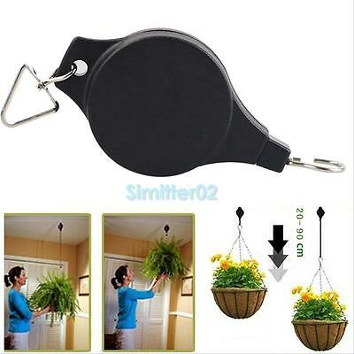 Retractable Pulley Hanging Basket Pull Down Hanger Garden Plant Flower Pot Hooks