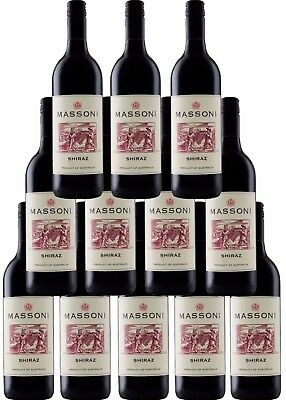 12 x Massoni Pyrenees Ranges Victoria Shiraz 2012