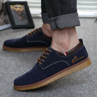 Men's Suede leather Shoes Oxfords Suede Casual Sneakers Fashion European Style