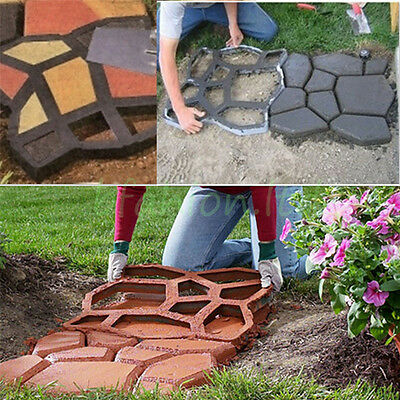 2 x Heavy Duty Resin Garden Path Way Making Mould Patio Driveway Paving Pavement