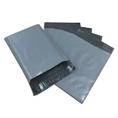 100 Mixed Grey Strong Self Seal Poly Plastic Postage Mailing Bags
