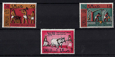 ITALY Somalia 1969 3 New Stamps Evert Tellier International labour organization