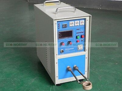 Brand New 15KW 220V 30~80 KHz High Frequency Induction Heater Furnace