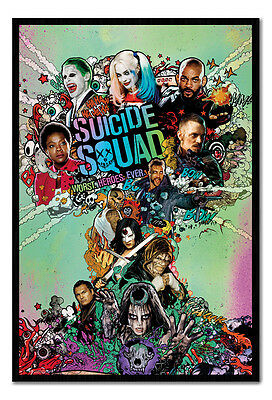 Framed Suicide Squad Film Movie One Sheet Poster New