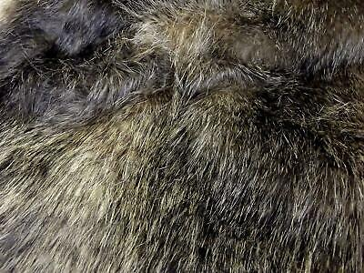 Super Luxury Faux Fur Fabric Material - NEW RACCOON