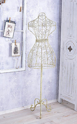 TAILOR'S DUMMY MANNEQUIN IRON FIGURE Vintage Bust Country Style