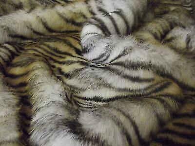 Super Luxury Faux Fur Fabric Material - BENGAL TIGER