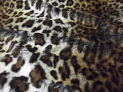 Super Luxury Faux Fur Fabric Material - LEOPARD 294