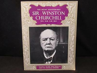Right Honourable Sir Winston Churchill Pitkin Pictorial Record & Speech Extracts