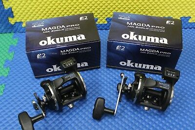 Okuma Magda Pro MA 30DLX Left Hand Trolling Reel with Line Counter 2 PACK