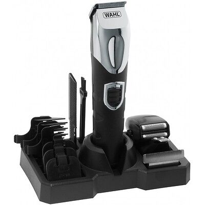 Wahl 9854-800 Deluxe Grooming Station Mens Hair Beard Trimmer Kit Rechargeable