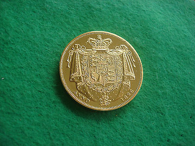 GEORGE IIII IV GOLD PLATED frosted proof piedfort uniface pattern crown 1826