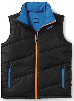 Black Blue Mens Padded Bodywarmer Gilet – Genuine Vw Up Collection Merchandise