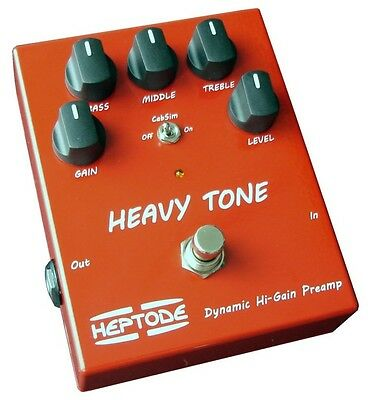 Pédale d'Effet Heptode Heavy Tone Preamp High Gain
