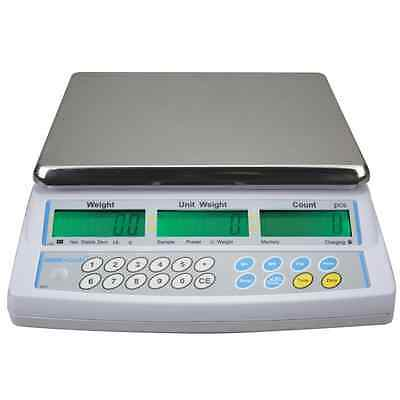 ADAM CBC 8kg - 0.2g Portable Mains Battery Bench Part Scale Counting Scales