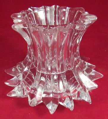 """Partylite Crystal Candle Holder Made In Germany 4"""" Tall"""