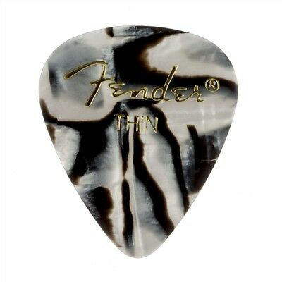 Fender 351 Premium Celluloid Guitar Picks - ZEBRA, THIN 144-Pack (1 Gross)