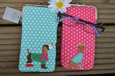 Gisela Graham Fabric Soft Party Cat /Dog Spec's Glasses Case (18 cm)