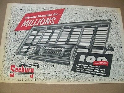Seeburg 100 Selections phonograph 1952 Ad- showcase for millions