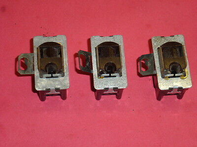 Nos! Lot Of 3 Ge Interchangeable, Receptacles, Brown, Ac