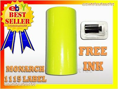 Fluorescent Yellow Label For Monarch 1115 Pricing Gun 1 Sleeve=10Rolls