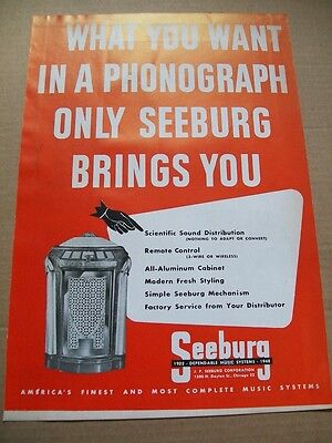 Seeburg Symphonola phonograph 1948 Ad- what you want in a phonograph