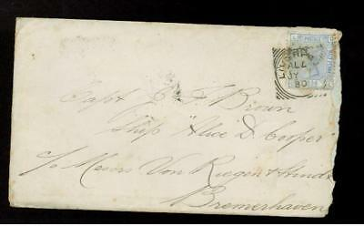 1880 Liverpool England Cover to Germany w/letter