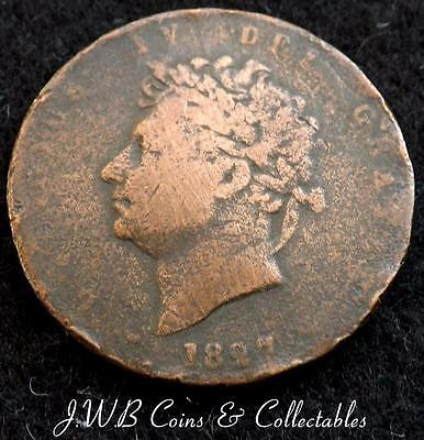 1827 George IV 1/2d Halfpenny Coin - Great Britain
