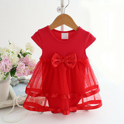 Baby Girl Clothes Newborn Kids Bebe Princess Tutu Bodysuit Playsuit Dress Skirt