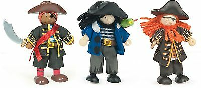 Le Toy Van BUDKINS BUCCANEERS Wooden Children's Pirate Figures/Dolls  BN